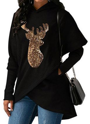 Animal Cute Hooded None Sweatshirts