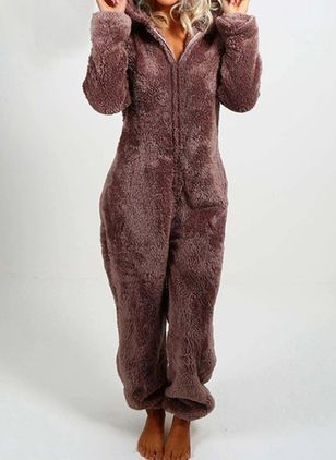 Hooded Animal Zipper Pajamas (107805099)