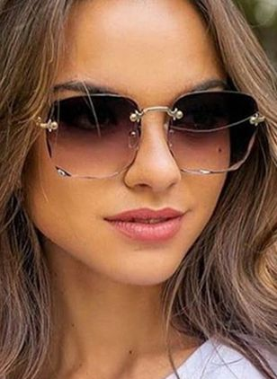 Casual Sunglasses Metal Frame Sunglasses (4074552)