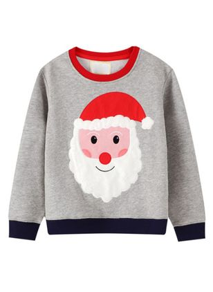 Christmas Boys' Character Round Neckline Long Sleeve Tops (118208048)