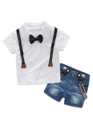 Boys' Color Block Going out Short Sleeve Clothing Sets