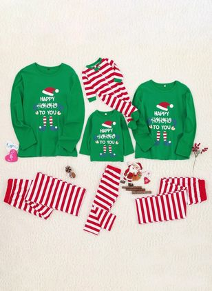 Family Look Alphabet Christmas Long Sleeve Family Outfits (120294921)