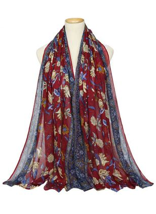 Casual Floral Scarves (147058903)
