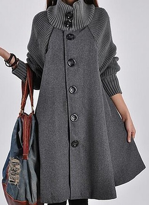 Long Sleeve Other Buttons Coats (1115583)