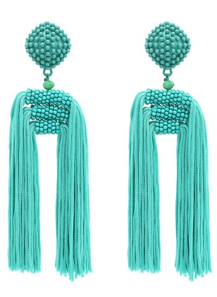 Tassel No Stone Dangle Earrings 1 pairs
