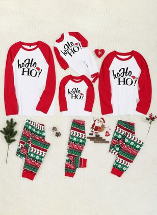 Family Look Alphabet Christmas Long Sleeve Family Outfits (120294933)