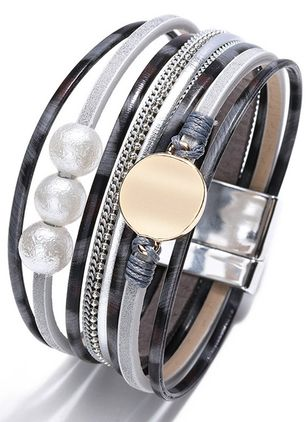 Casual Ball No Stone Cuff Bracelets (147183041)