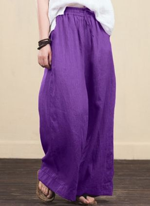 Women's Plus Size Loose Pants (4662190)