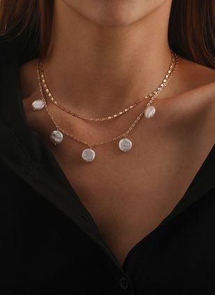 Casual Round Pendant Necklaces (147036388)