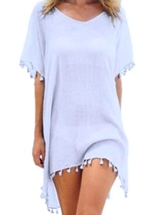 Chiffon Solid Cover-Ups Swimwear (1508661)