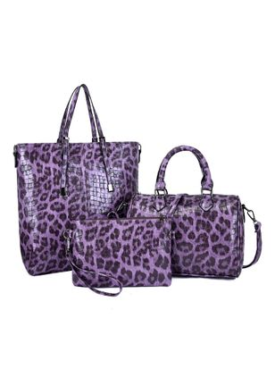 Bag Sets Fashion Zipper Print Double Handle Bags (5501572)