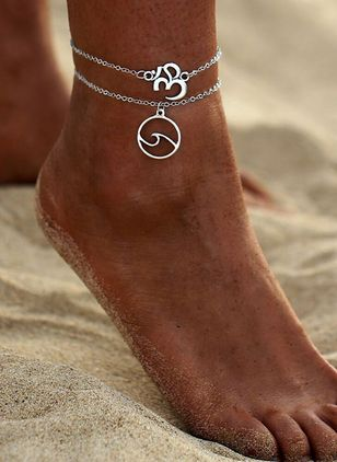 Casual No Stone Geometric Anklet (4047750)