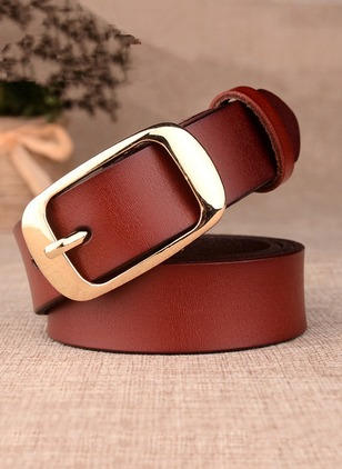 Vintage PU Solid Belts