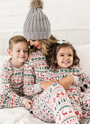 Family Look Geometric Christmas Long Sleeve Family Outfits (120294925)