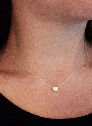 Casual Heart No Stone Pendant Necklaces (4134935)