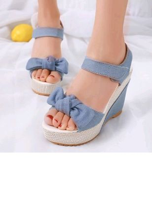 Denim Shoes With Bowknot (6046911)