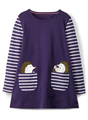 Girls' Casual Cartoon Daily Long Sleeve Dresses