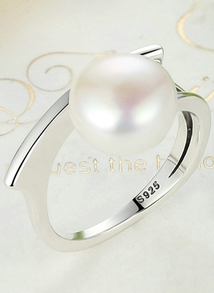 Ball Pearls Rings Single