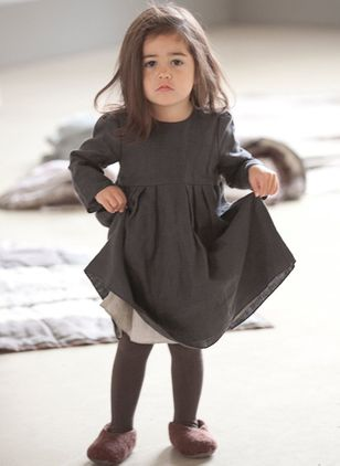 Girls' Casual Solid Daily Long Sleeve Dresses