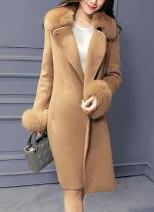 Long Sleeve High Neckline Pockets Coats
