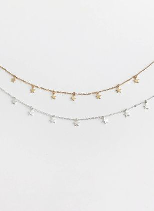 Star No Stone Pendant Necklaces