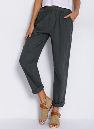 Women's Plus Size Straight Pants (1233408)