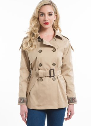 Long Sleeve Lapel Sashes Coats Jackets