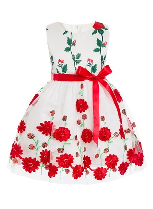 Girls' Floral Party Sleeveless Dresses