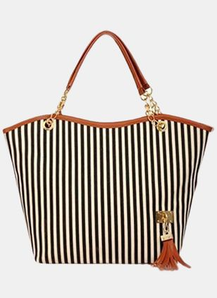 Shoulder Color Block Tassel Chain Bags (104917670)
