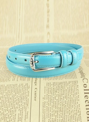 Casual PU Sequins Solid Belts