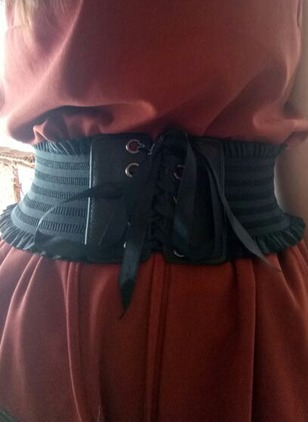 Leatherette Lace Solid Belts