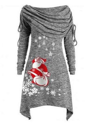 Christmas Character Off the Shoulder Above Knee X-line Dress (131285843)