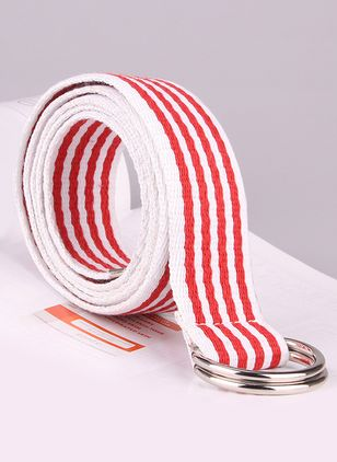 Casual Metal Stripe Belts