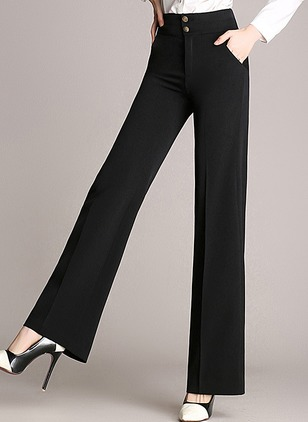 Straight Cotton Trousers Pants & Leggings