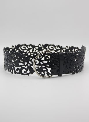Elegant Lace Solid Belts (4074255)