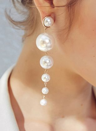 Ball Pearls Dangle Earrings