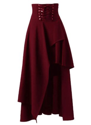 Solid Mid-Calf Casual Skirts (1284958)