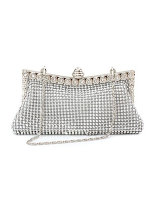 Shoulder Fashion PU Rhinestone Chain Bags