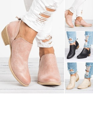 Closed Toe Chunky Heel Shoes