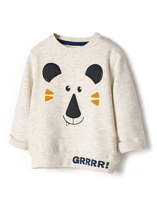 Boys' Print Round Neckline Long Sleeve Tops