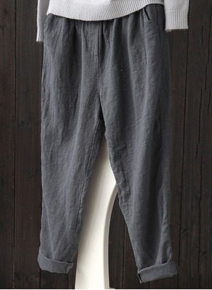 Bootcut Cotton Trousers Pants & Leggings