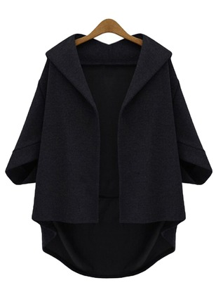 Cotton & Cotton Blend 3/4 Sleeves Lapel Coats