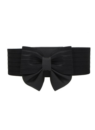 Elegant PU Bow Solid Belts