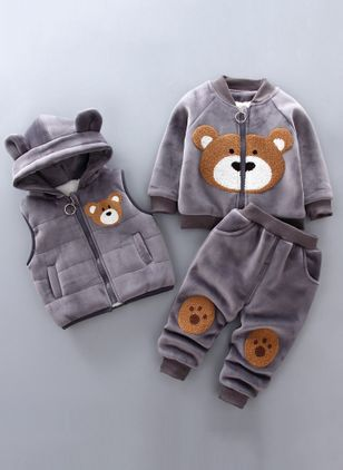 Boys' Cute Cartoon Going out Long Sleeve Clothing Sets