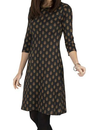 Casual Geometric Tunic Round Neckline A-line Dress (107805419)