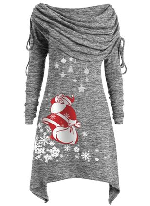 Christmas Character Off the Shoulder Above Knee X-line Dress (1381262)