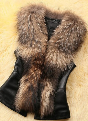 Faux Fur Short Sleeve Other Others Sleeveless Coats Coats