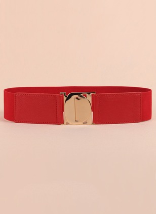 Casual PU Solid Belts