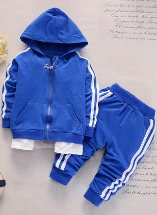 Boys' Cool Stripe Sports Long Sleeve Clothing Sets