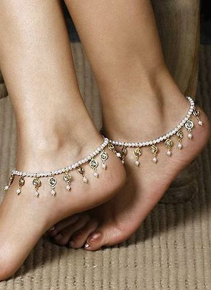 Casual Crystal Tassel Anklet (4037278)